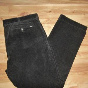 RALPH LAUREN POLO BLACK CORDUROY PANTS SZ 40 X 29